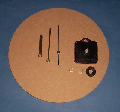 Round MDF clock kit, face & movement,  assembly instructions, decorate yourself