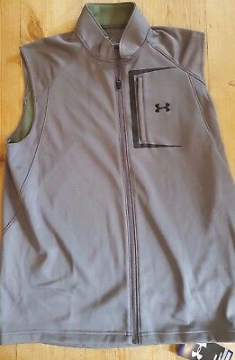 Under Armour Mens Stableford II Golf vest Grey 1204285 slzes, L,XL,XXL