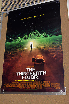 The thirteenth floor original movie poster 27x40 inches for 13th floor the movie