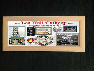 Lea Hall Colliery Coal Mine Framed Plaque Great Gift Miners Staffordshire