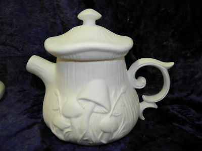 Ready to Paint Ceramic Bisque- Mushroom Teapot