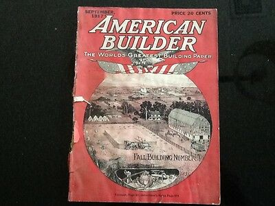 Vintage September 1917 American Builder The Worlds Greatest Building  Magazine