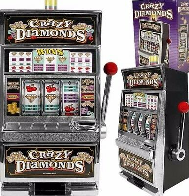 Slot Machine Bank Replica Casino Games Coin Jackpot Metal Toy Indoor Play New