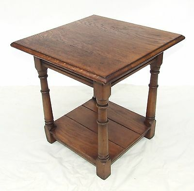 SOLID Light OAK Potboard Pot Board Coffee / Occasional Table Lamp Stand (14)