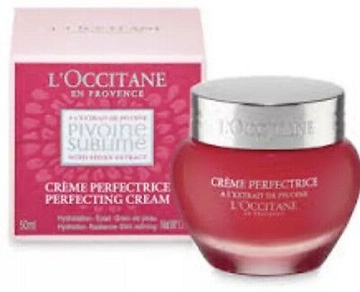 L'Occitane Pivoine Sublime Perfecting Cream Luxury Skincare 50ml.