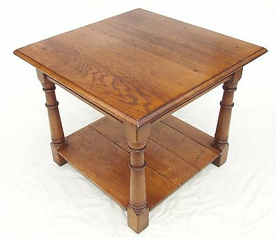 Large SOLID Light OAK Potboard Pot Board Coffee Occasional Table Lamp Stand (15)