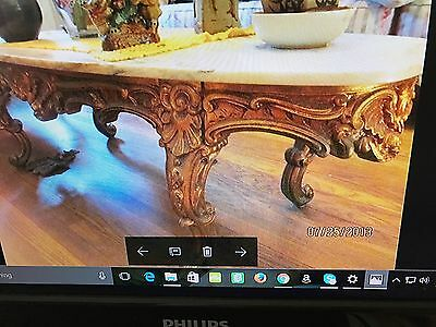 antique living room set,sofa no tears scratches,rips,Tables white marble,2 chair