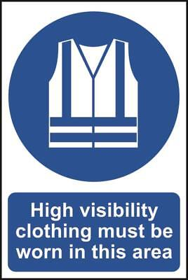 High visibility clothing must be worn in this area - PVC (200 x 300mm) 0022