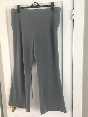 Grey Maternity Next Work Trousers 16