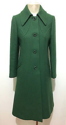 CULT VINTAGE '70 Cappotto Donna Lana Antico Wool Woman Coat Sz.S - 42