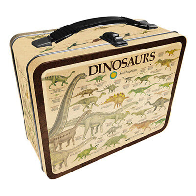 Smithsonian – Dinosaurs Tin Carry All Fun Box / Lunch Box - Brand New