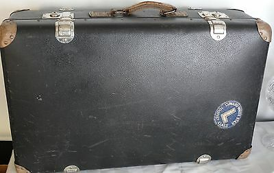 Stockholm Sweden Steamer Trunk Mid Century Travel Suitcases