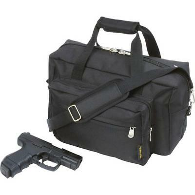 Black Tactical SWAT Police Range Bag Carry On Luggage Pistol Gun Hunting Duffle