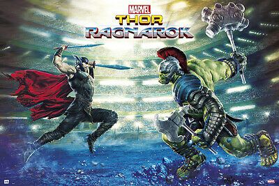 Thor: Ragnarok - Marvel Movie Poster / Print (Battle - Thor & Hulk) (Thor 3)