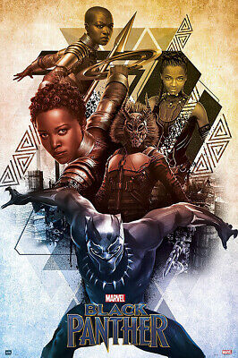 """BLACK PANTHER - MARVEL MOVIE POSTER / PRINT (CHARACTERS) (SIZE: 24"""" x 36"""")"""