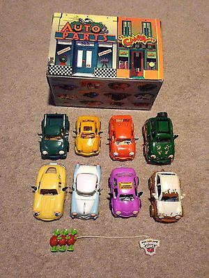 Chevron Cars Lot of 8 with Car Carrying Case Vintage HTF Vehicles.