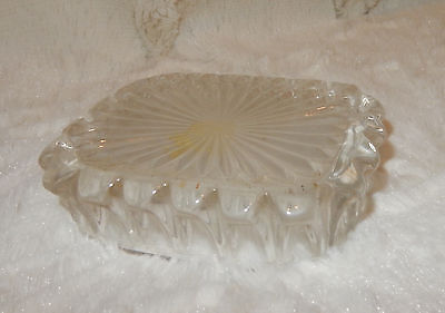 Antique, Clear Lead Glass Soap Dish