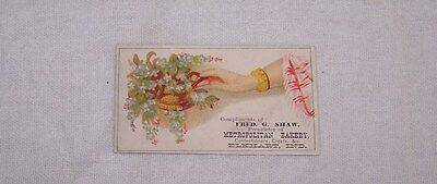 Early 1900's Business Card-Metropolitan Bakery-Elkhart Indiana-Fred Shaw-Cigars-