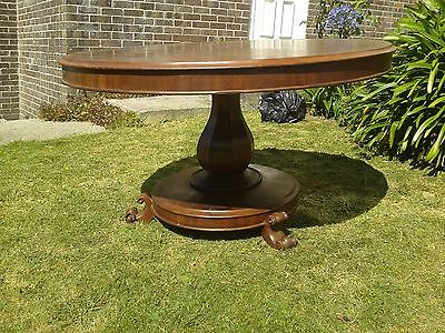 Victorian Oak Round Antique Breakfast Table, Folding which allows space