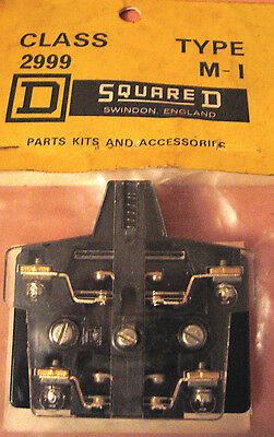 Square D Class 299 Type M - 1 Auxiliary Contactors Starters Relays Engineering
