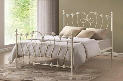 Time Living Inova Metal Bed Frame  -  Ivory - Free delivery