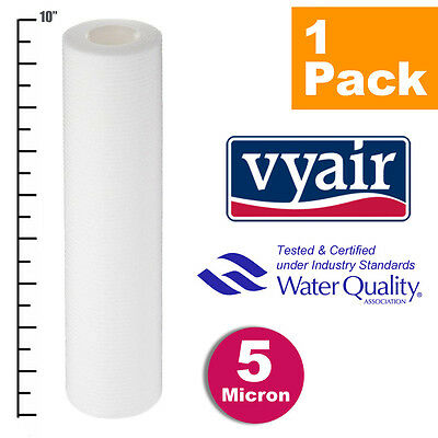 "VYAIR 10"" PP 5 Micron Particle / Sediment / Reverse Osmosis Water Filter x 1"