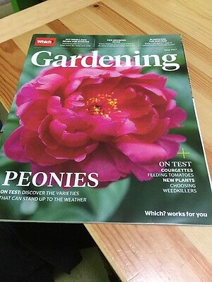 Which? Gardening Magazine May 2017 - Peonies, Lawns