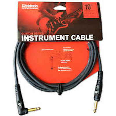 Planet Waves Pw-Gra-10  10 Foot Custom Series Instrument Cable, Right Angle Plug
