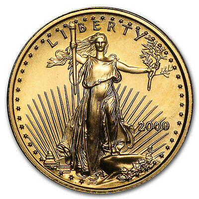 2000 1/10 oz Gold American Eagle BU - SKU #7248