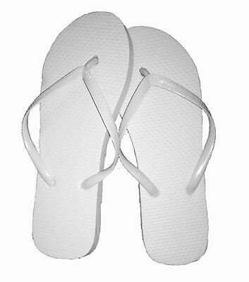 New Wholesale Lot 36 Pairs Womens Solid White Ladies Flip Flops Nwt