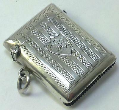 Antique hallmarked Sterling Silver Vesta Case – 1907
