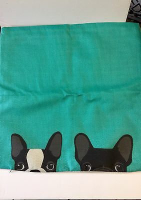 French Bulldog And Boston Terrier Pillow Cover