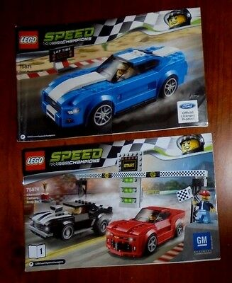LEGO Instructions for Speed Champions x2 ~ 75871 + 75874