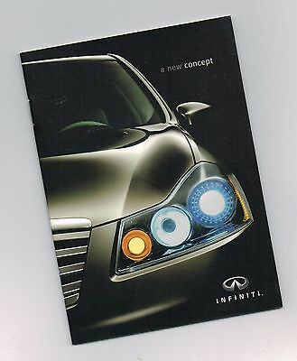 2006 INFINITI M CONCEPT Car Mini-Brochure / Catalog: M45, 45