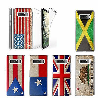 For Galaxy Note 8 Transparent Full Body Front Back Protector FLAG Series Case