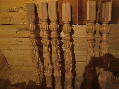 carved wooden balusters oak, length 1000 mm, diameter 90 mm, the ends 70to 70 mm