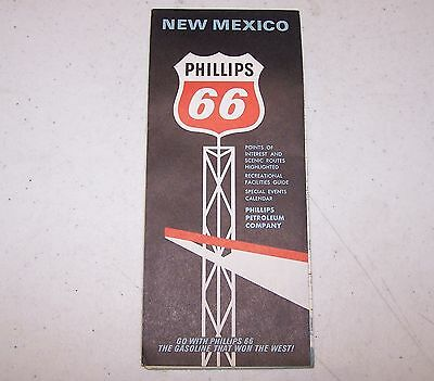 1966 Phillips 66 New Mexico Map