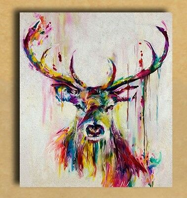 Beautiful Deer Watercolour art Painting Canvas home wall art choose your size