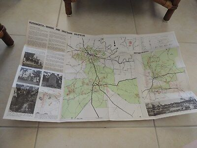 Vintage Rushworth-Whroo And Graytown Goldfield Map- Doug Stone-1987-Like New