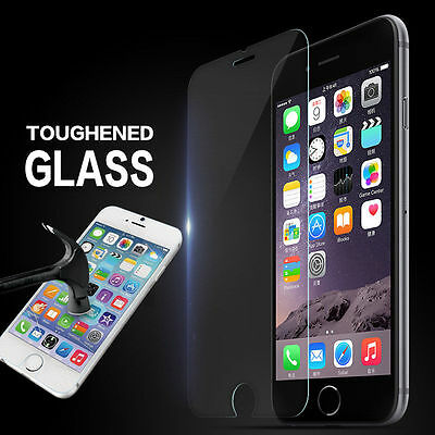 100% Genuine Tempered Glass Screen Protector Film For Apple Iphone 6/6S - New