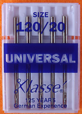 Klasse universal  Machine Needles for Janome Brother Sewing Machines 120/20