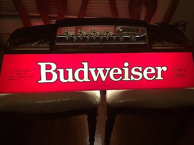 vintage budweiser clydesdale light