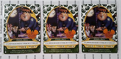 3 CLAWHAUSER 2016 Halloween Party Card Disney Sorcerers Of The Magic Kingdom 09P
