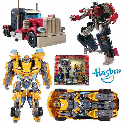 Hasbro Transformers 2Pcs Rotf Optimus Prime + Bumblebee Action Figures Robot