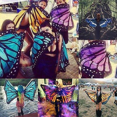 Butterfly Wings Shawl Cape Fairy Ladies Nymph Pixie Festival Costume Accessory *