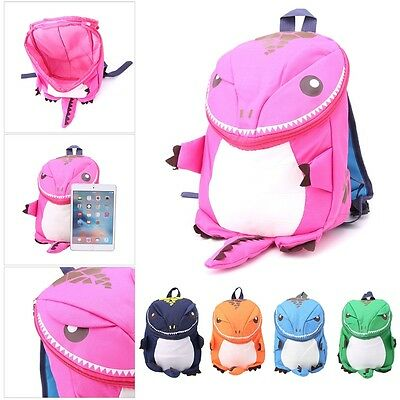 Cute Cartoon Kid Toddler Backpack Kindergarten Schoolbag 3D Dinosaur Animal Bag
