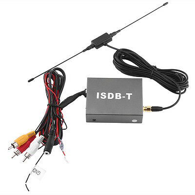 Mini ISDB-T Car TV Box DVD Analog TV Signal Receiver w/Antenna Remote Monitor HL
