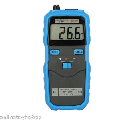 Bside BTM01 KType Thermocouple Probe LCD Display Digital Thermometer C/F Switchs