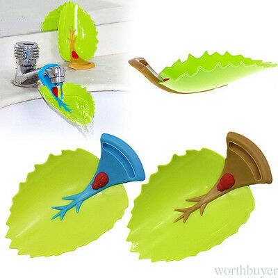 Leaves Water Faucet Extender With Straps Kids Hand Washing  Bathroom Sink VD
