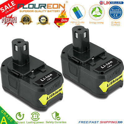 2x 4AH 18V Lithium Ion Battery for Ryobi P100 P108 RB18L40 P500 P600 One+ Plus
